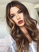 cheap Evening Dresses-Synthetic Wig Body Wave Style Middle Part Capless Wig Medium Brown / Dark Auburn Synthetic Hair 20 inch Women's New Dark Brown Gold Blonde Ombre Wig Long Natural Wigs