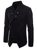cheap Men's Jackets & Coats-Men's Daily Basic Spring &  Fall Regular Jacket, Color Block Turndown Long Sleeve Cotton / Polyester Patchwork Black / Gray L / XL / XXL