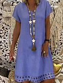 povoljno Ženske haljine-Žene A kroj Haljina V izrez Do koljena