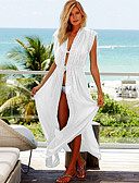 cheap Cover Ups-Women's White Skirt Cover-Up Swimwear - Solid Colored One-Size White