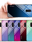 Недорогие Чехлы для телефонов-Кейс для Назначение SSamsung Galaxy A6 (2018) / A8 2018 Защита от удара / Защита от пыли Кейс на заднюю панель Градиент цвета Твердый ТПУ / Закаленное стекло
