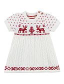 זול שמלות לתינוקות-שמלה שרוולים קצרים דפוס דפוס בסיסי בנות תִינוֹק / פעוטות