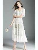 preiswerte Maxikleider-A-Linie V-Wire Ausschnitt Tee-Länge Spitze Kleid mit Spitzeneinsatz durch LAN TING Express