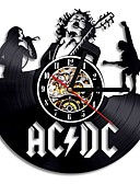 baratos Relógios Homem-relógio de vinil de parede banda de rock de acdc