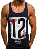 hesapli Erkek Tişörtleri ve Atletleri-Erkek Pamuklu Yuvarlak Yaka Kısa Paltolar Harf Beyaz