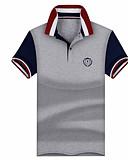 preiswerte Herren Polo Shirts-Herrn Solide Polo, Hemdkragen Leicht Blau XL