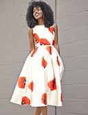 cheap Women's Dresses-Women's Kentucky Derby Elegant A Line Dress - Floral Red L XL XXL