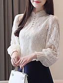 hesapli Bluz-Kadın's Bluz Solid Gül kurusu Beyaz
