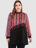economico Taglie forti-Blusa Per donna Monocolore Rosso XXXL / Taglia piccola