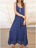 cheap Romantic Lace Dresses-Women's Elegant Tunic Swing Dress - Solid Colored Blue White Black L XL XXL