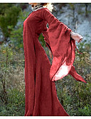 abordables Robes Femme-Femme Maxi Balançoire Robe - Style papillons Printemps Eté Automne Violet Vin Vert Véronèse XXXL XXXXL XXXXXL Manches Longues
