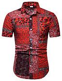 cheap Men's Shirts-Men's Street Club Punk & Gothic Shirt - Floral / Graphic Print Red US42