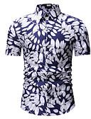 hesapli Erkek Gömlekleri-Erkek İnce - Gömlek Çiçekli Altın