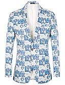ieftine Cămăși-Bărbați Costume Jacket Scrisă Imprimeu
