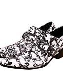 abordables Americanas y Trajes de Hombre-Hombre Novedad Zapatos Sintéticos Primavera verano Británico Oxfords Aumento de altura Blanco / Boda / Fiesta y Noche / Fiesta y Noche / Impresión Oxfords