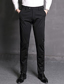 お買い得  メンズパンツ&ショーツ-男性用 ベーシック スーツ パンツ - ソリッド ブラック
