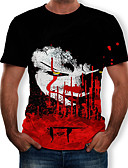 billige T-shirts og undertrøjer til herrer-Herre - Farveblok / 3D / Tribal Trykt mønster T-shirt