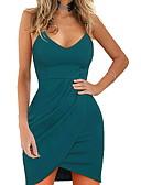 baratos Vestidos de Mulher-Mulheres Tubinho Vestido Com Alças Altura dos Joelhos