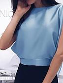 levne Halenka-Dámské - Jednobarevné Košile Vodní modrá M