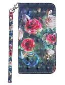 halpa Puhelimen kuoret-Etui Käyttötarkoitus Samsung Galaxy Galaxy S10 Lomapkko / Korttikotelo / Tuella Suojakuori Kukka Kova PU-nahka