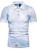 cheap Pocket Watches-Men's EU / US Size Slim Polo - 3D Print Shirt Collar Gray XL