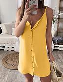 billiga Damklänningar-Dam Vintage Elegant Mantel Klänning - Enfärgad Ovanför knäet