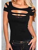 abordables Blusas para Mujer-Mujer Camiseta, Con Tirantes Un Color Rojo M