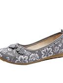 hesapli Gömlek-Kadın's Ayakkabı Pamuklu İlkbahar & Kış Düz Ayakkabılar Düz Taban Günlük için Gri / Kırmzı / Mavi