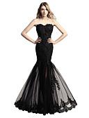 זול שמלות ערב-בתולת ים \ חצוצרה לב (סוויטהארט) עד הריצפה טול שמלה עם אפליקציות על ידי JUDY&JULIA