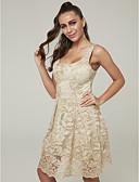 preiswerte Cocktailkleider-A-Linie U-Ausschnitt Kurz / Mini Spitze Cocktailparty Kleid mit Spitzeneinsatz durch TS Couture®