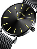 cheap Steel Band Watches-Men's Dress Watch Quartz Stainless Steel Black / Gold / Rose Gold Casual Watch Analog Fashion Minimalist - Black Golden Rose Gold One Year Battery Life