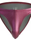 abordables Ropa interior para hombre exótica-Hombre Talla EU / US G-string Underwear - Básico 1 Pieza Media cintura Negro Gris Oscuro Morado M L XL