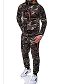 cheap One-piece swimsuits-Men's Street chic Activewear Set - Camo / Camouflage Green XL