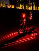 halpa Märkäpuvut, sukelluspuvut ja suoja-asut-Laser LED Pyöräilyvalot Polkupyörän jarruvalo turvavalot Maastopyöräily Pyöräily Vedenkestävä Useita toimintatiloja Super Bright Li-ion 80 lm USB Ladattava Punainen Telttailu / Retkely / Luolailu