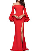 cheap Party Dresses-Women's Sophisticated Elegant Sheath Dress - Solid Colored Backless Black Red Wine M L XL