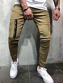 זול מכנסיים ושורטים לגברים-בגדי ריקוד גברים בסיסי מכנסי טרנינג מכנסיים - אחיד תלתן שחור חאקי XL XXL XXXL