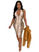 זול סרבלים ואוברולים לנשים-M L XL דפוס עור נחש, Rompers ישר סגול פוקסיה כחול ים בסיסי בגדי ריקוד נשים