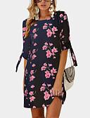hesapli Mini Elbiseler-Kadın's Sokak Şıklığı Kombinezon Şifon Elbise - Çiçekli, Desen Diz üstü