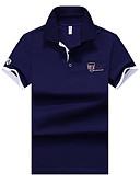 hesapli Erkek Polo Tişörtleri-Erkek Pamuklu Gömlek Yaka İnce - Polo Solid AB / ABD Beden Havuz