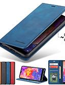 hesapli Cep Telefonu Kılıfları-Pouzdro Uyumluluk Samsung Galaxy S9 / S9 Plus / S8 Plus Kart Tutucu / Satandlı / Manyetik Tam Kaplama Kılıf Solid Sert PU Deri