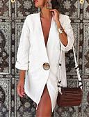 povoljno Sweater Dresses-Žene Proljeće / Ljeto / Jesen Sako, Jednobojni V izrez Poliester Obala / Bijela / Žutomrk / Širok kroj