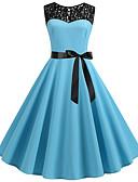 povoljno Ženske haljine-Žene Osnovni A kroj Haljina Color block Iznad koljena