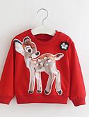 povoljno Majice za djevojčice-Djeca Dijete koje je tek prohodalo Djevojčice Boho Kinezerije Geometrijski oblici Kolaž Mašna Dugih rukava Pamuk Trenirka s kapuljačom Red