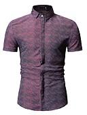 levne Pánské košile-Pánské - Geometrický Košile Černá XL