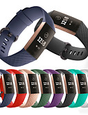 halpa Smartwatch-nauhat-Watch Band varten Fitbit Charge 3 Fitbit Urheiluhihna Silikoni Rannehihna