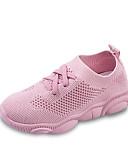 זול סטים של ביגוד לתינוקות-בנים / בנות נוחות Flyknit נעלי אתלטיקה פעוט (9m-4ys) / ילדים קטנים (4-7) / ילדים גדולים (7 שנים +) ריצה פתחים לבן / שחור / ורוד אביב / קיץ / גומי