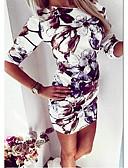 abordables Vestidos de Mujer-Vestido bodycon por encima de la rodilla mujer blanco s m l xl