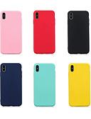 זול מגנים לטלפון-מגן עבור Samsung Galaxy A6 (2018) / A6+ (2018) / Galaxy A7(2018) אולטרה דק כיסוי אחורי אחיד רך TPU