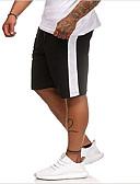 お買い得  メンズパンツ&ショーツ-男性用 スポーティー スウェットパンツ パンツ - ソリッド / ストライプ ブラック