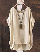 preiswerte Bluse-Damen Solide T-shirt Patchwork Grün